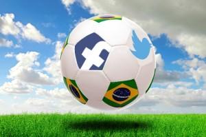 2014 World Cup soccer ball with social media logos